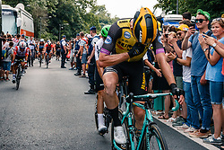 Mike Teunissen (NED) of Team Jumbo-Visma (NED,WT,Bianchi) after stage 1 from Bruxelles to Brussel of the 106th Tour de France, 6 July 2019. Photo by Pim Nijland / PelotonPhotos.com | All photos usage must carry mandatory copyright credit (Peloton Photos | Pim Nijland)