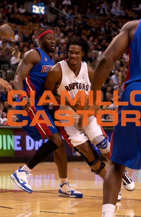 DESCRIZIONE : Toronto NBA 2009-2010 Toronto Raptors Detroit Pistons<br /> GIOCATORE : Chris Bsoh<br /> SQUADRA : Toronto Raptors<br /> EVENTO : Campionato NBA 2008-2009 <br /> GARA : Toronto Raptors Detroit Pistons<br /> DATA : 04/11/2009<br /> CATEGORIA :<br /> SPORT : Pallacanestro <br /> AUTORE : Agenzia Ciamillo-Castoria/V.Keslassy<br /> Galleria : NBA 2009-2010<br /> Fotonotizia : Toronto NBA 2009-2010 Toronto Raptors Detroit Pistons<br /> Predefinita :