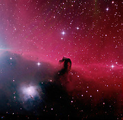 Horsehead Nebul in the constellation Orion. 2 hrs 35 minutes exporsure through HaLRGB-filters.