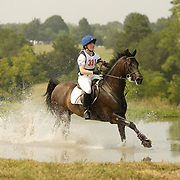 Emily Daigneault (CAN) and Misty Vale Bacardi at the 2007 CN North American Junior and Young Riders' Championships held at the Virginia Horse Center in Lexington, Virginia