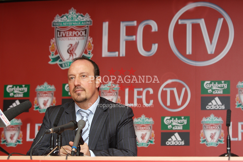 Liverpool, England - Thursday, September 27, 2007: Liverpool manager Rafael Benitez at the launch of the Official Liverpool FC television channel on Setanta Sports. (Photo by David Rawcliffe/Propaganda)