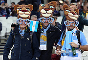 Argentina fans prior to kick off during the Rugby World Cup Bronze Final match between South Africa and Argentina at the Queen Elizabeth II Olympic Park, London, United Kingdom on 30 October 2015. Photo by Matthew Redman.