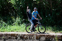 UK ENGLAND LEICESTER 30JUN15 - Cyclists along the river Soar at Leicester city.<br /> <br /> jre/Photo by Jiri Rezac / WWF UK<br /> <br /> © Jiri Rezac 2015