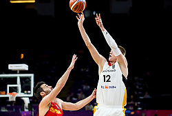 Fernando San Emeterio of Spain vs Robin Benzing of Germany during basketball match between National Teams of Germany and Spain at Day 13 in Round of 16 of the FIBA EuroBasket 2017 at Sinan Erdem Dome in Istanbul, Turkey on September 12, 2017. Photo by Vid Ponikvar / Sportida