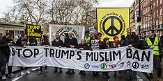 4 Feb 2017 - Thousands march in London protest against Trump's anti-Muslim immigration laws.