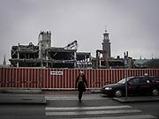 Rivning av Stockholm Ban som byggdes så sent som på 1980-talet. Blev bara kring 25 år.