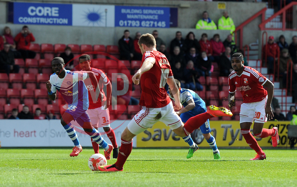 Swindon Town's Andy Williams takes a penalty kick - Photo mandatory by-line: Paul Knight/JMP - Mobile: 07966 386802 - 11/04/2015 - SPORT - Football - Swindon - The County Ground - Swindon Town v Peterborough United - Sky Bet League One