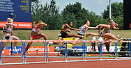 Picture by Alan Stanford/Focus Images Ltd +44 7915 056117<br /> 12/07/2013<br /> Louise Wood (GBR) 100m Hurdles heat pictured during day two of Sainsbury's British Championship at Alexander Stadium, Birmingham.