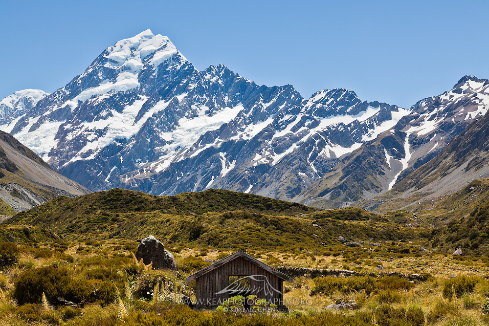 Hut at Hooker Valley, Mount Cook