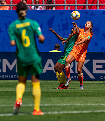 15-06-2019 FRA: Netherlands - Cameroon, Valenciennes<br /> FIFA Women's World Cup France group E match between Netherlands and Cameroon at Stade du Hainaut / Lieke Martens #11 of the Netherlands, Victoria Pelova #12 of the Netherlands