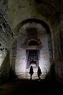 """Roma 1 Aprile 2015<br /> Presentato il progetto per il risanamento della Domus Aurea, realizzato dalla Soprintendenza speciale per i beni archeologici di Roma, che consiste nella sistemazione del  giardino pensile,una parcella di 800 mq ,realizzato con tecnologie sostenibili che farà da «scudo» alla  Domus Aurea impedendo le infiltrazioni d'acqua. L'interno della Domus Aurea.<br /> Rome, April 1, 2015<br /> Presented the project for the rehabilitation of the Domus Aurea, fulfilled  by the Superintendence for Cultural Heritage of Rome, which is the arrangement of the roof garden, a plot of 800 square meters, made with sustainable technologies that will be the """"shield"""" at the Domus Aurea for  preventing water infiltration. The interior of the Domus Aurea."""