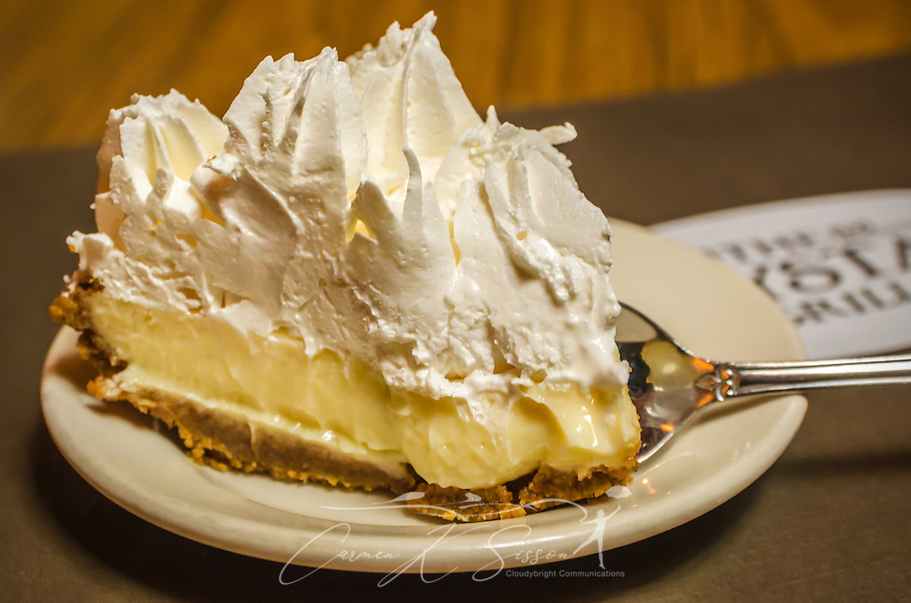 Lemon icebox pie is one of the specialties at Crystal Grill in Greenwood, Miss. (Photo by Carmen K. Sisson/Cloudybright)