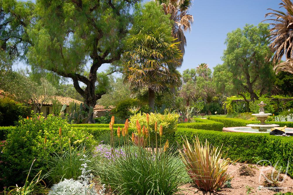 Mission San Buenaventura Garden Courtyard, Ventura, California