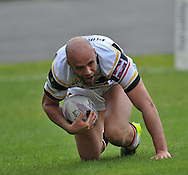 Adrian Purtell of Bradford Bulls touches down to score during the First Utility Super League match at Odsal Stadium, Bradford<br /> Picture by Richard Land/Focus Images Ltd +44 7713 507003<br /> 01/06/2014