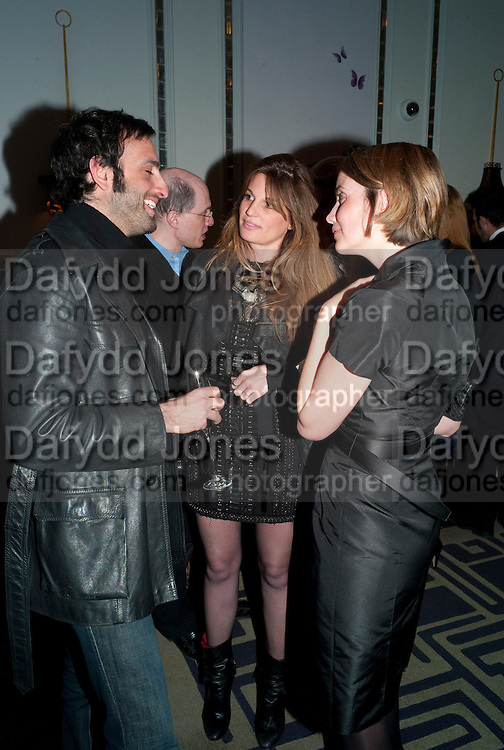TIM SAMUELS; JEMIMA KHAN; MRS ALAIN DE BOTTON, Henry Porter hosts a launch for Songs of Blood and Sword by Fatima Bhutto. The Artesian at the Langham London. Portland Place. 15 April 2010.  *** Local Caption *** -DO NOT ARCHIVE-© Copyright Photograph by Dafydd Jones. 248 Clapham Rd. London SW9 0PZ. Tel 0207 820 0771. www.dafjones.com.<br /> TIM SAMUELS; JEMIMA KHAN; MRS ALAIN DE BOTTON, Henry Porter hosts a launch for Songs of Blood and Sword by Fatima Bhutto. The Artesian at the Langham London. Portland Place. 15 April 2010.
