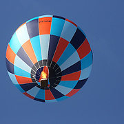 Matthew Scaife, Australia, and other Hot air balloons in the skies around rural Michigan near Battle Creek as they reach a target area during competition in the 20th FAI World Hot Air Ballooning Championships. Battle Creek, Michigan, USA. 22nd August 2012. Photo Tim Clayton