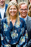 10-9-2018 THE HAGUE - Queen Maxima with Minister Sigrid Kaag at the opening of a workshop of the Global Partnership for Financial Inclusion of the G20. The workshop focuses on the importance of good access to financial services for people who are forced to leave their home. copyrught robin utrecht