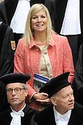 Prinses Maxima aanwezig bij de oratie professor van Dijk op de op Nyenrode Business Universiteit. // Princess Maxima attended the lecture of Professor van Dijk at the Nyenrode Business University.<br /> <br /> Op de foto / On the Photo:  Prinses Maxima