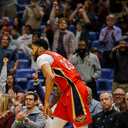 Mar 21, 2018; New Orleans, LA, USA; New Orleans Pelicans forward Anthony Davis (23) against the Indiana Pacers during the fourth quarter at the Smoothie King Center. The Pelicans defeated the Pacers 96-92. Mandatory Credit: Derick E. Hingle-USA TODAY Sports