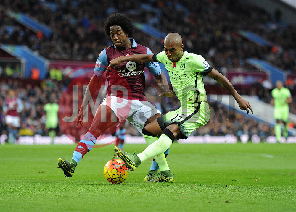 Fernandinho of Manchester City - Mandatory byline: Alex James/JMP - 07966 386802 - 08/11/2015 - FOOTBALL - Villa Park - Birmingham, England - Aston Villa v Manchester City - Barclays Premier League