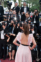 Barbara Palvin with photographers at the gala screening for the film Julieta at the 69th Cannes Film Festival, Tuesday 17th May 2016, Cannes, France. Photography: Doreen Kennedy