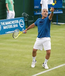MANCHESTER, ENGLAND: Mansour Bahrami (IRN) during Day one of the Manchester Masters Tennis Tournament at the Northern Tennis Club. (Pic by David Tickle/Propaganda)