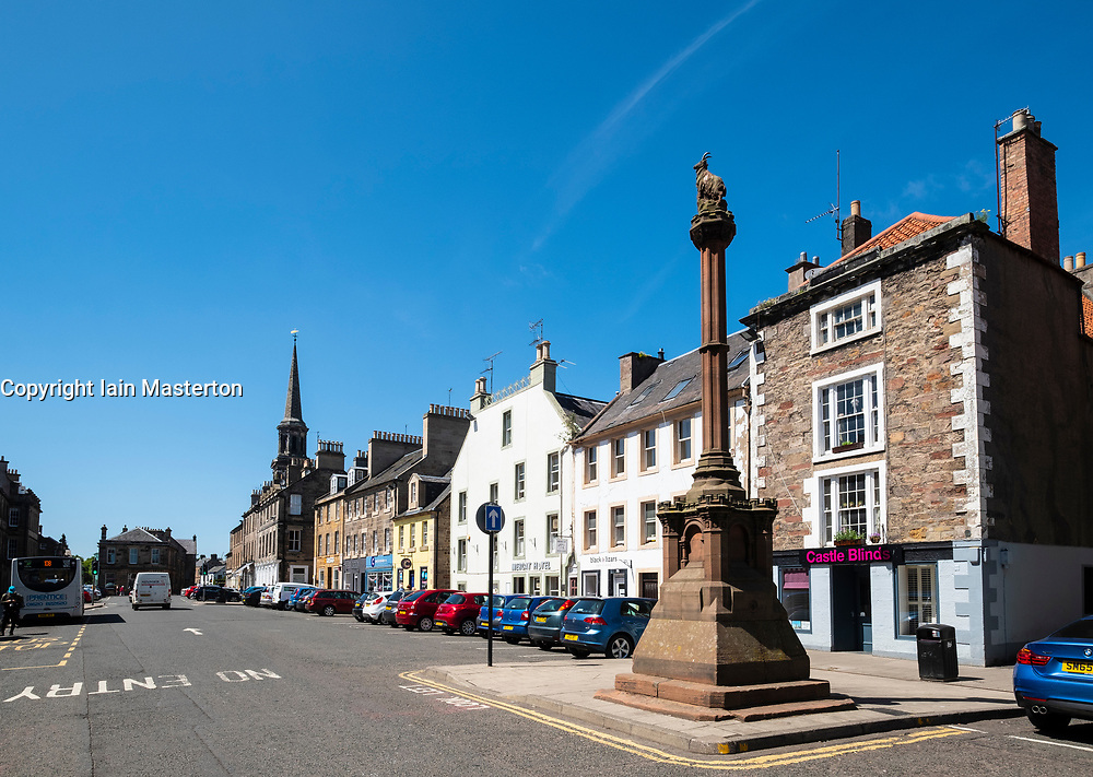 View of the High Street and Mercat in Haddington , East Lothian, Scotland, UK