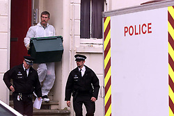 Sarah Payne, 8 year old girl missing..Police emptying No 6, St Augustine Rd,  Little Hampton, West Sussex. The house belongs to a man helping police with enquires, July 5, 2000. Photo by Andrew Parsons / i-images..
