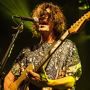 "WASHINGTON, DC - October 10th, 2013 - Christian Zucconi of Grouplove performs at The Hamilton in Washington, D.C. The band's 2011 hit ""Tongue Tied"" sold over 1 million copies, was featured in an iPod Touch commercial and was covered on the TV show Glee. (Photo by Kyle Gustafson / For The Washington Post)"