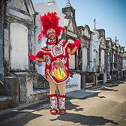Mardi Gras Indians Super Sunday at AL Davis Park on March 25, 2018, in New Orleans, LA. © Erika Goldring - All Rights Reserved.