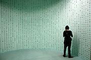 Reproduction de cartes vertes à la biennale d'art contemporain de Lyon