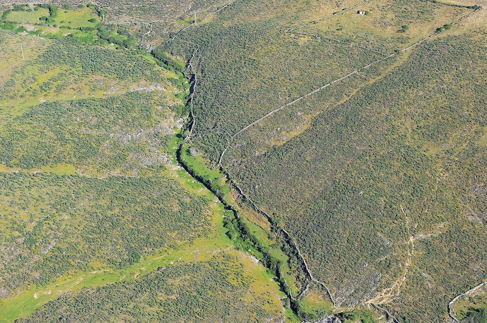 Aerial image<br /> Espiritu Santo area,   dehesa Salamanca Region, Castilla y Le&oacute;n, Spain