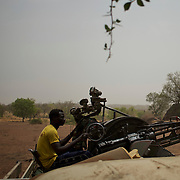 A Sudan People's Liberation Movement (SPLA-N) rebel fighters handles an anti-aerial weapon as the group take defensive position in Jebel Kwo military base, ahead of an attack on Sudan's Armed Forces (SAF) positions near Tess village in the rebel-held territory of the Nuba Mountains in South Kordofan.