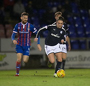 30th January 2018, Tulloch Caledonian Stadium, Inverness, Scotland; Scottish Cup 4th round replay, Inverness Caledonian Thistle versus Dundee; Dundee's Scott Allan races away from Inverness Caledonian Thistle's Joe Chalmers
