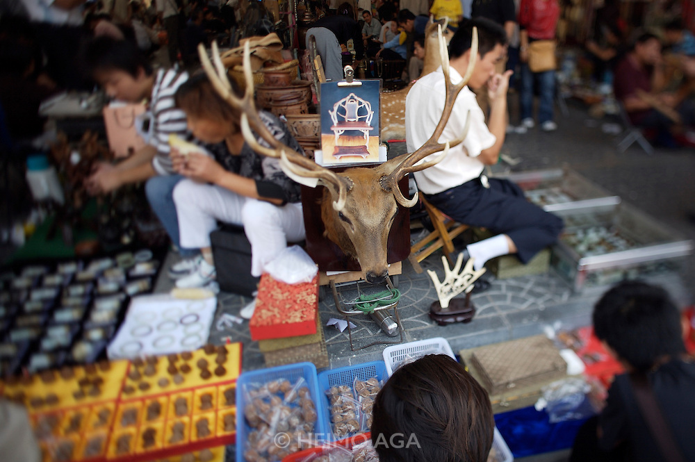Panjiayuan weekend market. Deer head.