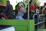 The Regions Bank float in the Ole Miss homecoming parade in Oxford, Miss. on Friday, October 17, 2014. Ole Miss hosts Tennessee in football action on Saturday, October 18 at 6 p.m.