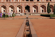 India, Delhi, Emperor Humayun's Tomb (detail), 16th century Mughal tomb listed as World Heritage by UNESCO