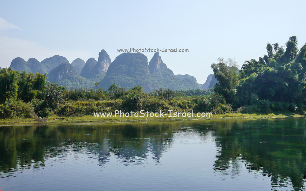 China, Yangshuo County, Li River Karst formations