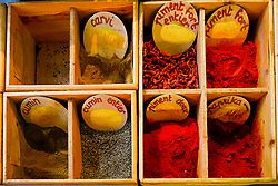 Spices for sale, Close-up view