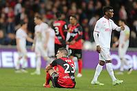 DECEPTION Jeremy PIED  - 08.03.2015 -  Guingamp / Lille -  28eme journee de Ligue 1 <br />Photo : Vincent Michel / Icon Sport