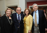 Hunter College President Jennifer J. Raab, center, poses with Hunter alum Lee Cooperman, center left, and Sandra and Edward Meyer at the Hunter College Summer Garden Party, Tuesday, July, 8, 2014, at Roosevelt House in New York. (Photo by Diane Bondareff/Invision for Hunter College/AP Images)