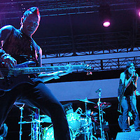 Hinder performs at Concrete Street Amphitheater.