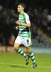Yeovil Town's Edward Upson  - Photo mandatory by-line: Alex James/JMP - Tel: Mobile: 07966 386802 27/08/2013 - SPORT - FOOTBALL - Huish Park - Yeovil - Yeovil Town V Birmingham City -  Capital One Cup - Round 2