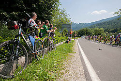 Spectators during Stage 3 from Skofja Loka to Vrsic (170 km) of cycling race 20th Tour de Slovenie 2013,  on June 15, 2013 in Slovenia. (Photo By Vid Ponikvar / Sportida)