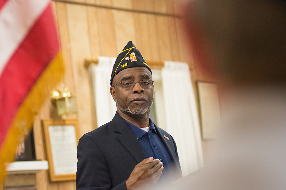 Roscoe Butler, Deputy Director of The American Legion's Veteran Affairs and Rehabilitation Division, hosts a System Worth Saving town hall at American Legion Post 1 in Reno, Nev. on Tuesday, March 8, 2016. Photo by David Calvert /The American Legion.
