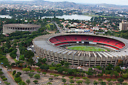 Belo Horizonte_MG, Brasil...Estadio Governador Magalhaes Pinto (Mineirao), Mineirinho e Lagoa da Pampulha, Minas Gerais...The Governador Magalhaes Pinto stadium (Mineirao), the Mineirinho and Pampulha Lake, Minas Gerais...Foto: BRUNO MAGALHAES / NITRO