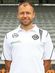 14.07.2015, Scholz Arena, Aalen, GER, 2. FBL, VfR Aalen, Fototermin, im Bild Co Trainer Christian Gmuender ( VfR Aalen ) // during the official Team and Portrait Photoshoot of German 2nd Bundesliga Club VfR Aalen at the Scholz Arena in Aalen, Germany on 2015/07/14. EXPA Pictures © 2015, PhotoCredit: EXPA/ Eibner-Pressefoto/ Langer<br /> <br /> *****ATTENTION - OUT of GER*****