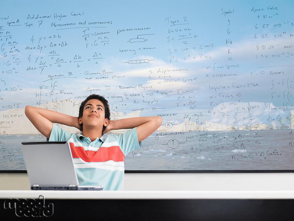 Boy in Math Class