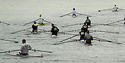 Photo Peter Spurrier.30/11/2002.2002 Tideway Scullers Head of the River Race.Crews marshalling opposite 'Corney Reach; Chiswick Rowing Course: River Thames, Championship course, Putney to Mortlake 4.25 Miles [Mandatory Credit: Peter Spurrier: Intersport Images]