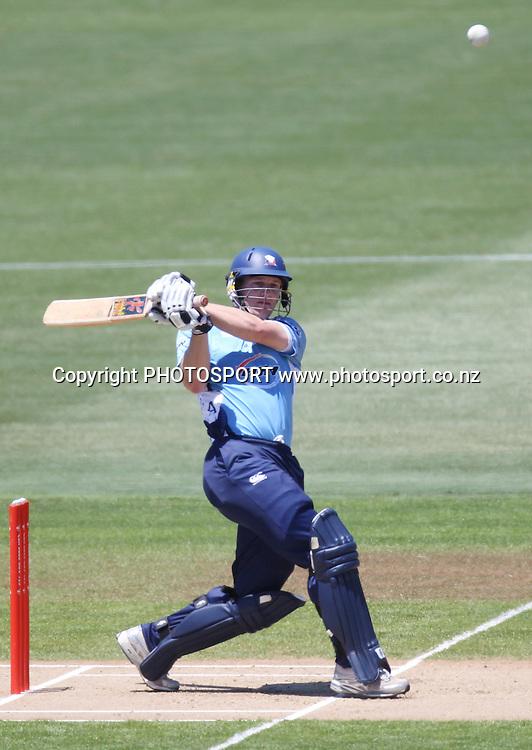 Auckland's Jimmy Adams. Twenty20 Cricket, HRV Cup Final 2010/11. Auckland Aces v Central Stags, Colin Maiden Park, Auckland. Sunday 2 January 2011. Photo: Andrew Cornaga/photosport.co.nz